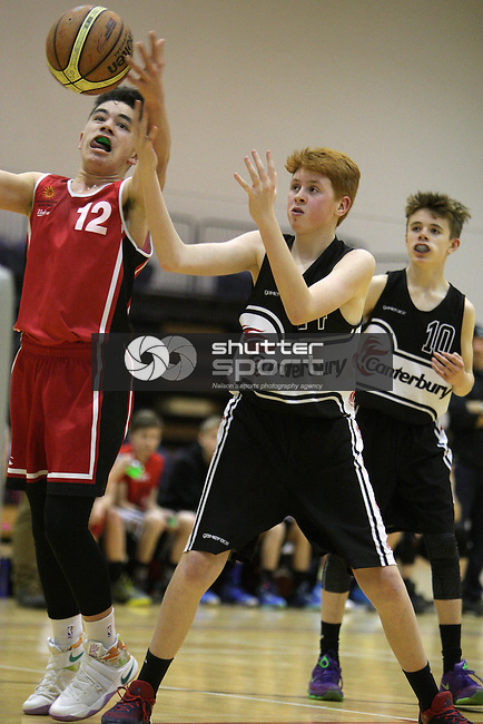 BLENHEIM,NEW ZEALAND. Mainland U15 Basketball Tournament. Marlborough A vs Canterbury Black, at Stadium 2000, on Sunday July 17th 2016. (Photo by Ricky Wilson Shuttersport Limited)