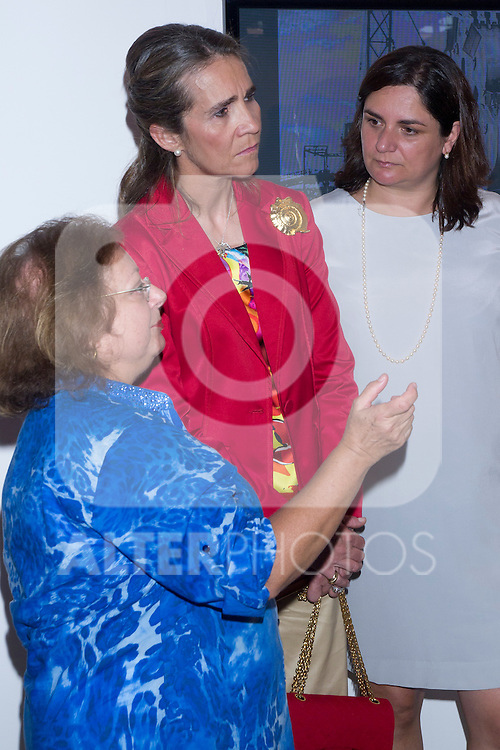 "07.06.2012. Princess Elena of Spain Inauguration of the 4th Edition of the International Exhibition of Photography ""Madridfoto"" at Matadero in Madrid. In the image Princess Elena de Borbon and Cristina Garcia Rodero (Alterphotos/Marta Gonzalez).."