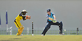 T20 World Cup Qualifying match - Scotland V Uganda at the ICC Global Cricket Academy - Dubai - pic shows opener (and Man of the Match) Calum MacLeod making runs before being bowled on 45 - Uganda keeper is Lawrence Sematimba - Scotland won by 34 runs - Picture by Donald MacLeod  15.3.12  07702 319 738  clanmacleod@btinternet.com