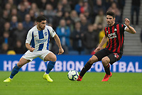 Brighton & Hove Albion's Alireza Jahanbakhsh (left) battles with Huddersfield Town's Christopher Schindler (right)<br /> <br /> Photographer David Horton/CameraSport<br /> <br /> The Premier League - Brighton and Hove Albion v Huddersfield Town - Saturday 2nd March 2019 - The Amex Stadium - Brighton<br /> <br /> World Copyright © 2019 CameraSport. All rights reserved. 43 Linden Ave. Countesthorpe. Leicester. England. LE8 5PG - Tel: +44 (0) 116 277 4147 - admin@camerasport.com - www.camerasport.com