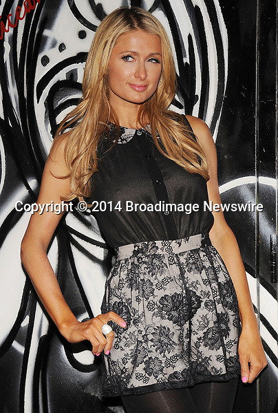 Pictured: Paris Hilton<br /> Mandatory Credit &copy; Jack Shea/Starshots/Broadimage<br /> Alice + Olivia - Arrivals - Mercedes-Benz Fashion Week Fall 2014<br /> <br /> 2/10/14, New York, New York, United States of America<br /> <br /> Broadimage Newswire<br /> Los Angeles 1+  (310) 301-1027<br /> New York      1+  (646) 827-9134<br /> sales@broadimage.com<br /> http://www.broadimage.com