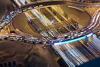 United Arab Emirates, Dubai, Sheikh Zayed Road, intersection under construction