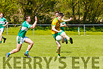 Conlon O'Leary Gneeveguilla is tackled byDarragh LehaneListry in Listry on Sunday