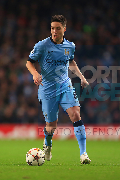 Samir Nasri of Manchester City - Manchester City vs. Bayern Munich - UEFA Champion's League - Etihad Stadium - Manchester - 25/11/2014 Pic Philip Oldham/Sportimage