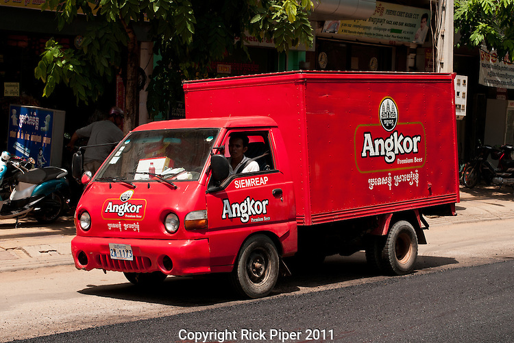 Angkor beer delivery truck,Siem Reap,Cambodia