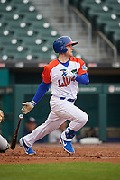 "Buffalo Bisons Billy McKinney (11) during an International League game against the Scranton/Wilkes-Barre RailRiders on June 5, 2019 at Sahlen Field in Buffalo, New York.  The Bisons wore special uniforms as they played under the name the ""Buffalo Wings"".  Scranton defeated Buffalo 3-0, the first game of a doubleheader.  (Mike Janes/Four Seam Images)"