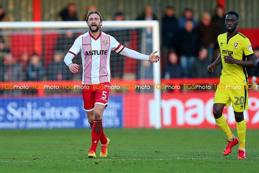 Fraser Franks of Stevenage during Stevenage vs Cheltenham Town, Sky Bet EFL League 2 Football at the Lamex Stadium on 1st January 2018