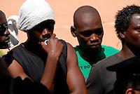 Lampedusa / Italia - 19 giugno 2011.Rifugiati all'interno della Base Loran, ex base NATO, dove vengono accolti i migranti minori non accompagnati. .Foto Livio Senigalliesi