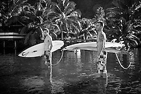 BEN DUNN (AUS)  and DAVEY WEARE (ZAF)  at Teahupoo, Tahiti, Thursday May 7 2009. Photo: joliphotos.com