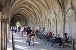 Cloister of Salisbury Cathedral, England, UK