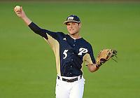 Florida International University infielder/outfielder Tyler James Shantz (5) plays against Florida Atlantic University. FAU won the game 5-1 on March 16, 2012 at Miami, Florida.