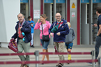 West Ham fans arrive during West Ham United vs Manchester City, Premier League Football at The London Stadium on 10th August 2019