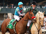 LEXINGTON, KY - April 08, 2018. #5 Gas Station Sushi and jockey Corey Nakatani win the 33rd running of The Beaumont Presented by Keeneland Select Grade 3 $150,000 for owner Riley Racing Stables, Jason and Megan Tackitt and Mike Hensen and trainer Richard Baltas at Keeneland Race Course.  Lexington, Kentucky. (Photo by Candice Chavez/Eclipse Sportswire/Getty Images)