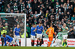 29.12.2019 Celtic v Rangers: Nikola Katic roars as he clears in the fifth minute of added on time and Celtic can't respond