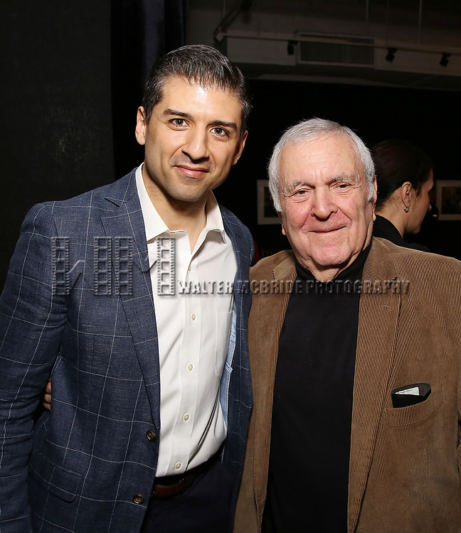 Tony Yazbeck and John Kander attends the Vineyard Theatre's Annual Emerging Artists Luncheon at The National Arts Club on June 6, 2017 in New York City.