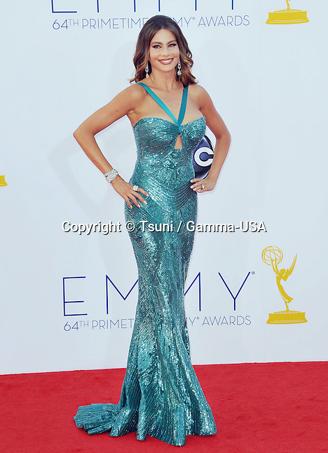 Sofia Vergara at  64th PRIMETIME EMMYS Arrival at the Nokia Theatre in Los Angeles.