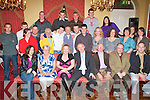 40TH BIRTHDAY: Eugene Greaney, Ardfert (seated centre) enjoying a great time celebrating his 40th birthday with family and friends at the Imperial Hotel, Tralee on Saturday.