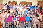 21ST BIRTHDAY: Gerald Power, Shanakill (seated 4th left) enjoying a great time celebrating his 21st birthday with a large group of family and friends at Na Gaeil clubhouse, Tralee on Saturday.