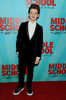NEW YORK, NY - OCTOBER 01: Thomas Barbusca attends the New York Screening of Middle School: The Worst Years of My Life at Regal E-Walk on October 1, 2016 in New York City. Photo Credit: John Palmer/MediaPunch