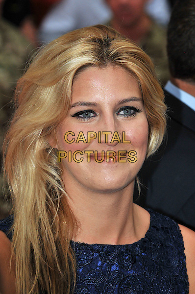 Francesca 'Cheska' Hull.The 'The Expendables 2' UK film premiere, Empire cinema, Leicester Square, London, England..August 13th, 2012.headshot portrait blue  .CAP/BF.©Bob Fidgeon/Capital Pictures.
