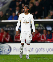 Kyle Naughton of Swansea City during the Capital One Cup match between Hull City and Swansea City played at the Kingston Communications Stadium, Hull