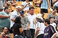 ATENÇÃO EDITOR: FOTO EMBARGADA PARA VEÍCULOS INTERNACIONAIS SÃO PAULO,SP,27 OUTUBRO 2012 - CAMPEONATO BRASILEIRO - CORINTHIANS x VASCO - Andres Sanches ex presidente do Corinthians durante partida Corinthians x Vasco válido pela 33º rodada do Campeonato Brasileiro no Estádio Paulo Machado de Carvalho (Pacaembu), na região oeste da capital paulista na tarde deste sabado (27).(FOTO: ALE VIANNA -BRAZIL PHOTO PRESS).