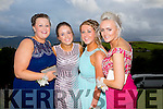 Enjoying a great time at the Milltown Presentation Debs at Ballyroe Heights Hotel on Tuesday were  l-r Shauna Kerins, Jessie Griffin, Katie Horgan and Erin Kehoe