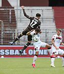 nph00001:  nph0001:  17.05.2020 --- Fussball --- Saison 2019 2020 --- 2. Fussball - Bundesliga --- 26. Spieltag: FC Sankt Pauli - 1. FC Nürnberg --- --- DFL regulations prohibit any use of photographs as image sequences and/or quasi-video - Only for editorial use ! --- <br /> <br /> Matt Matthew Penney (17, FC St. Pauli ) Nikola Dovedan (8, 1. FC Nürnberg ) <br /> <br /> Foto: Daniel Marr/Zink/Pool//via Kokenge/nordphoto