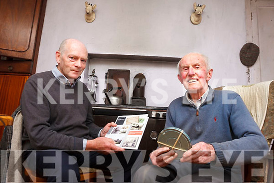 Historian Maurice O'Keeffe pictured with Castlegregory man Tom Daly who has shared footage of his local area going back to the late '40s.