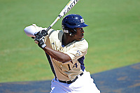 22 April 2012:  FIU outfielder Jabari Henry (14) bats as the University of Arkansas Little Rock Trojans defeated the FIU Golden Panthers, 7-6, at University Park Stadium in Miami, Florida.