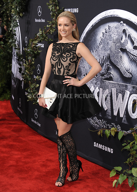 WWW.ACEPIXS.COM<br /> <br /> June 9 2015, LA<br /> <br /> Greer Grammer arriving at the world premiere of 'Jurassic World' at the Dolby Theatre on June 9, 2015 in Hollywood, California. <br /> <br /> <br /> By Line: Peter West/ACE Pictures<br /> <br /> <br /> ACE Pictures, Inc.<br /> tel: 646 769 0430<br /> Email: info@acepixs.com<br /> www.acepixs.com