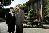 Stanford Med school dean Paul Pizzo and Stanford Hospital CEO Martha Marsh.