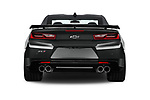 Straight rear view of 2017 Chevrolet Camaro ZL1 2 Door Coupe Rear View  stock images