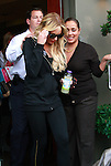US actress Lindsay Lohan in Los Angeles, California 09 May 2008. The actress is doing a photo shoot for her new leggings line on Robertson Boulevard and wanted the paparazzi to join her.