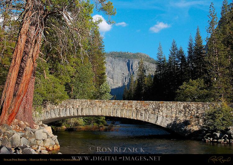 Sugar Pine Bridge, Kenneyville Bridge No. 2, Merced River, North Pines, Yosemite National Park
