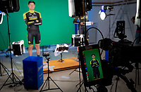 Luke Durbridge (AUS/Mitchelton-Scott) having his tv-video-graph taken at the official team presentation of the 102nd Giro d'Italia 2019 at the Grande Partenza in Bologna<br /> <br /> ©kramon