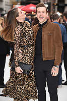 """LONDON, UK. September 12, 2018: Georgia Jones & Danny Jones at the World Premiere of """"King of Thieves"""" at the Vue Cinema, Leicester Square, London.<br /> Picture: Steve Vas/Featureflash"""