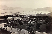 BNPS.co.uk (01202 558833)<br /> Pic: DominicWinterAuction/BNPS<br /> <br /> Fledgling Botanical Gardens on Hong Kong island.<br /> <br /> Revealed - A fascinating photo album from the very early days of British Hong Kong...long before the skyscrapers covered it over.<br /> <br /> The 150 year old photos of Hong Kong taken by one of the first British photographers to venture to the Far East have emerged for sale for £15,000.<br /> <br /> John Thomson, who was also a geographer, left Edinburgh for Singapore in 1862 and spent the following decade travelling the region.<br /> <br /> He explored a decidely low-rise Hong Kong from 1868 to 1870, taking numerous pictures of the rapidly expanding settlement and its industrious inhabitants.<br /> <br /> They capture the area, which is currently engulfed in unrest and protest, at a far more tranquil time.<br /> <br /> The photos are being sold with auction house Dominic Winter, of Cirencester, Gloucs.