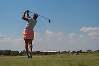 Dori Carter (USA) watches her tee shot on 18 during the round 3 of the Volunteers of America Texas Classic, the Old American Golf Club, The Colony, Texas, USA. 10/5/2019.<br /> Picture: Golffile   Ken Murray<br /> <br /> <br /> All photo usage must carry mandatory copyright credit (© Golffile   Ken Murray)