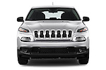 Car photography straight front view of a 2014 JEEP Cherokee Longitude 4 Door SUV Front View