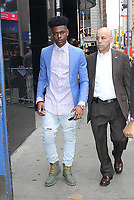 NEW YORK, NY June 07: Aubrey Joseph at Good Morning America promoting Marvel's Cloak &amp; Dagger on June 07, 2018 in New York City. <br /> CAP/MPI/RW<br /> &copy;RW/MPI/Capital Pictures