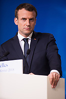 Emmanuel Macron gives a press conference at an informal meeting of European Union  -  Belgium