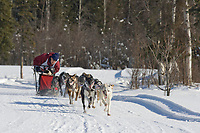 Musher Lester Erhart, 2007 Open North American Championship sled dog race (the world's premier sled dog sprint race) is held annually in Fairbanks, Alaska.