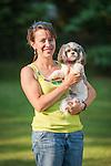 Rachel Kirk and little dog