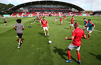 Fleetwood Town players warm-up<br /> <br /> Photographer Stephen White/CameraSport<br /> <br /> The EFL Sky Bet League One - Fleetwood Town v AFC Wimbledon - Saturday 4th August 2018 - Highbury Stadium - Fleetwood<br /> <br /> World Copyright &copy; 2018 CameraSport. All rights reserved. 43 Linden Ave. Countesthorpe. Leicester. England. LE8 5PG - Tel: +44 (0) 116 277 4147 - admin@camerasport.com - www.camerasport.com<br /> <br /> Photographer Stephen White/CameraSport<br /> <br /> The EFL Sky Bet League One - Fleetwood Town v AFC Wimbledon - Saturday 4th August 2018 - Highbury Stadium - Fleetwood<br /> <br /> World Copyright &copy; 2018 CameraSport. All rights reserved. 43 Linden Ave. Countesthorpe. Leicester. England. LE8 5PG - Tel: +44 (0) 116 277 4147 - admin@camerasport.com - www.camerasport.comFans make their way to the Highbury Stadium<br /> <br /> Photographer Stephen White/CameraSport<br /> <br /> The EFL Sky Bet League One - Fleetwood Town v AFC Wimbledon - Saturday 4th August 2018 - Highbury Stadium - Fleetwood<br /> <br /> World Copyright &copy; 2018 CameraSport. All rights reserved. 43 Linden Ave. Countesthorpe. Leicester. England. LE8 5PG - Tel: +44 (0) 116 277 4147 - admin@camerasport.com - www.camerasport.com<br /> <br /> Photographer Stephen White/CameraSport<br /> <br /> The EFL Sky Bet League One - Fleetwood Town v AFC Wimbledon - Saturday 4th August 2018 - Highbury Stadium - Fleetwood<br /> <br /> World Copyright &copy; 2018 CameraSport. All rights reserved. 43 Linden Ave. Countesthorpe. Leicester. England. LE8 5PG - Tel: +44 (0) 116 277 4147 - admin@camerasport.com - www.camerasport.com
