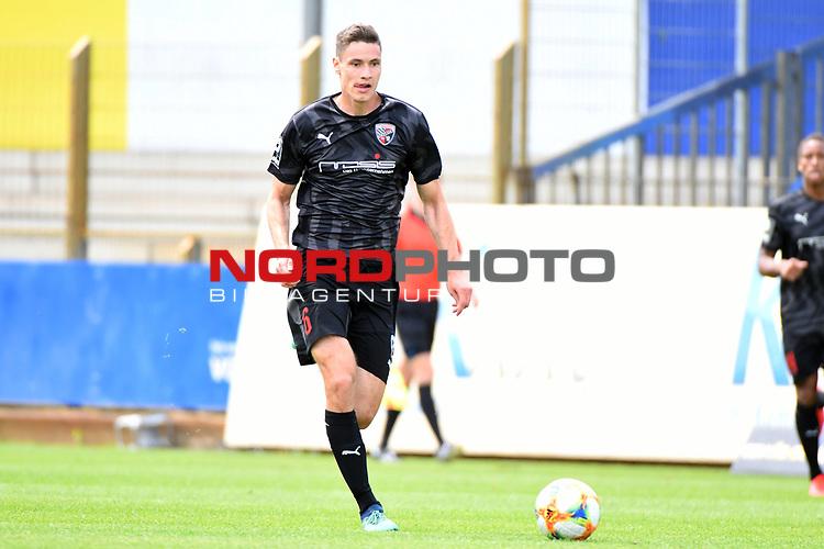 28.06.2020, Hänsch-Arena, Meppen, GER, 3.FBL, SV Meppen vs. FC Ingolstadt 04 <br /> <br /> im Bild<br /> Maximilian Thalhammer (FC Ingolstadt 04, 6) am Ball.<br /> <br /> DFL REGULATIONS PROHIBIT ANY USE OF PHOTOGRAPHS AS IMAGE SEQUENCES AND/OR QUASI-VIDEO<br /> <br /> Foto © nordphoto / Paetzel