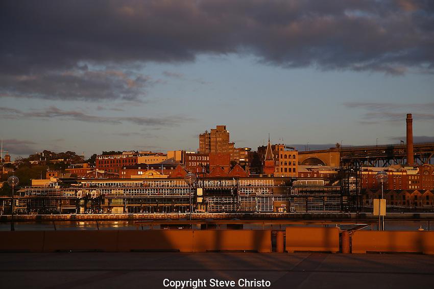 The Rocks district on Sunday, September 20th 2015, Sydney, Australia.  (Photo: Steve Christo).