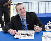 Austin Smith (Colgate) - The members of the Hobey Hat Trick joined the Boston College Eagles and Ferris State Bulldogs at an autograph signing at Channelside Bay Plaza on Friday, April 6, 2012, in Tampa, Florida.