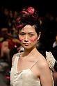 October 21st, 2011: Tokyo, Japan – A model walks down the catwalk wearing Junya Tashiro during Mercedes-Benz Fashion Week Tokyo 2012 Spring/Summer. The Mercedes-Benz Fashion Week Tokyo runs from October 16-22. (Photo by Yumeto Yamazaki/AFLO)