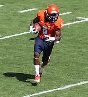 Virginia wide receiver Darius Jennings (6) Ball State defeated Virginia 48-27 during an NCAA football game Saturday Oct. 5, 2013 at Scott Stadium in Charlottesville, VA. Photo/Andrew Shurtleff